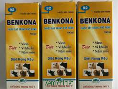 benkona trị nấm viruts vi khuẩn